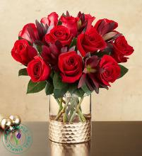 Crimson Rose Bouquet by Real Simple®