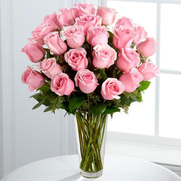 The Deluxe Long Stem Pink Rose Bouquet