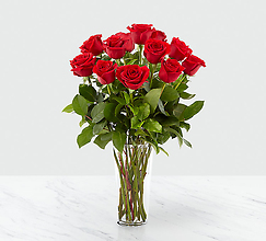 12 60 cm Long Stem Red Rose Bouquet