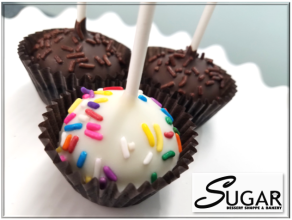 Gourmet Birthday Cake & Traditional Flavored Cake Pops 4 ct