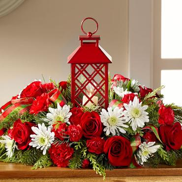 The Celebrate the Season Centerpiece with Lantern