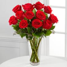 The Deluxe Long Stem Red Rose Bouquet